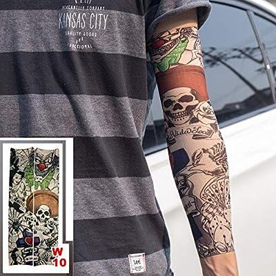 Brazo Completo Mangas del Tatuaje elástico Falso 100% Nylon Medias ...
