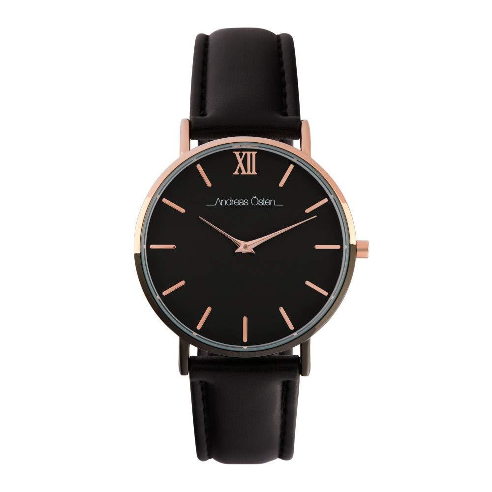 Montre Femme Andreas Osten à Quartz Cadran Noir 36mm Et Bracelet Multicolore En PU AOS18056