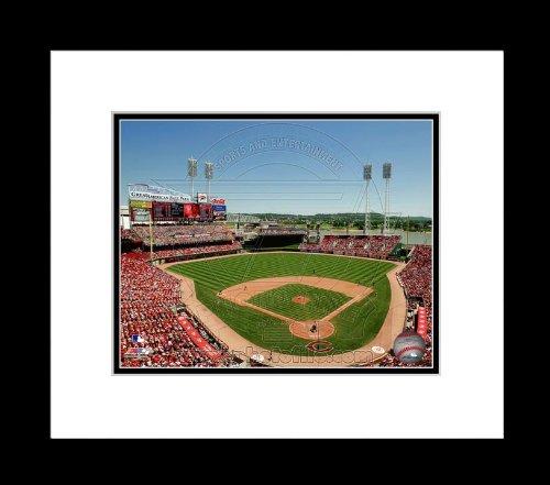 (Cincinnati Reds Great american Ballpark 2010 - Framed 16x20 Photo )