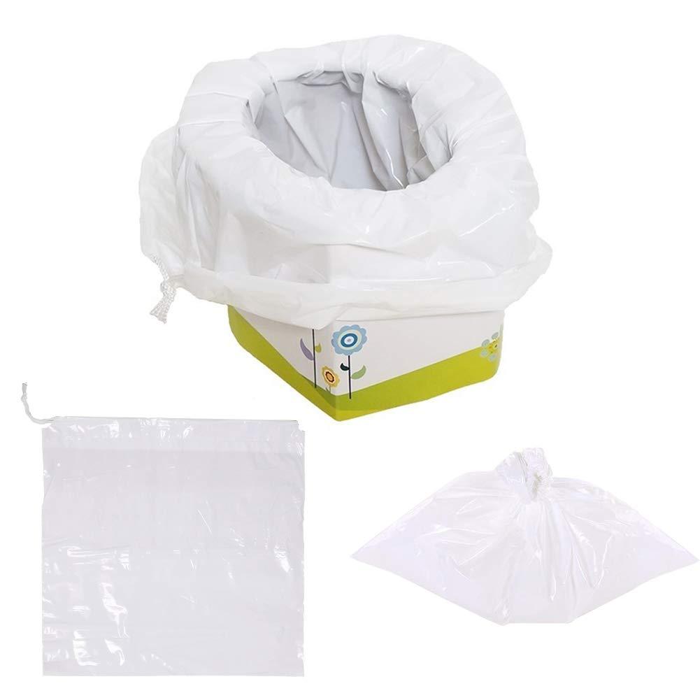 caravane parc camping plage Danolt toilettes d/'ext/érieur r/éutilisables pour toilettes avec 5 sacs jetables Portative Toilette pour enfants pique-nique sac de poubelle /à cordon pour voyages