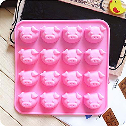 ❤Ywoow❤ Cake Mold, Pig Shape Embellisment Silicone Fondant Mould Cake Decor Sugar Chocolate -