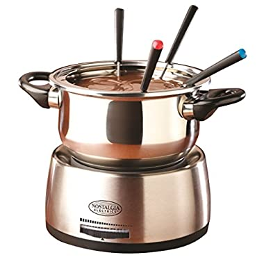 Nostalgia FPS200 6-Cup Stainless Steel Electric Fondue Pot