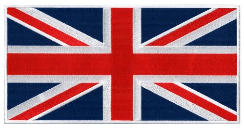 Large British Union Jack Embroidered Patch England Flag UK G