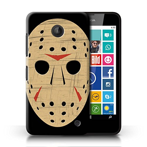 ver for Nokia Lumia 635 / Jason Vorhees Mask Inspired Design/Horror Movie Art Collection ()