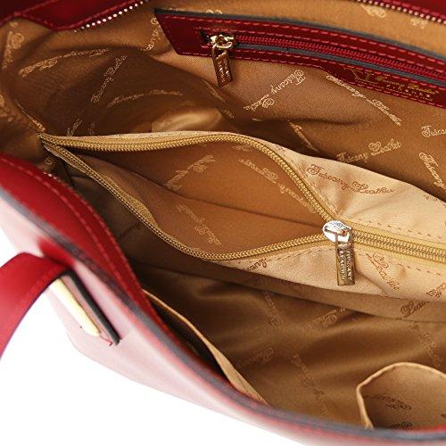81415214 - TUSCANY LEATHER: OLIMPIA - Sac cabas en cuir Ruga - Petit modèle, rouge