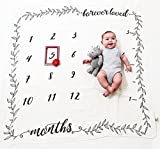 #5: Organic Milestone Blanket by Pondering Pine - Newborn Gift for Baby Boy or Girl - Monthly Photography Background Prop