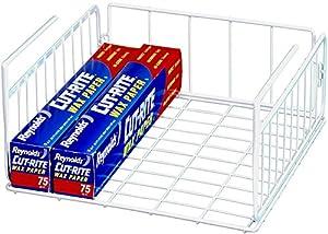 SimpleHouseware Under Shelf Basket, White