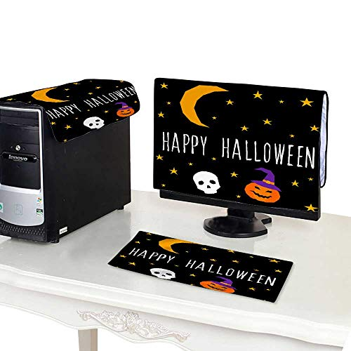Miki Da Plastic Computer dust Cover 22'' Monitor Set Happy Halloween Card Template Abstract Halloween Pattern for Design Card Party Invitation Poster Album me for $<!--$25.10-->