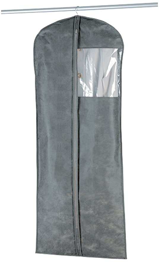 Wenko Libertà Bolsa Porta Trajes, Polipropileno, Gris, 150x60x3 cm