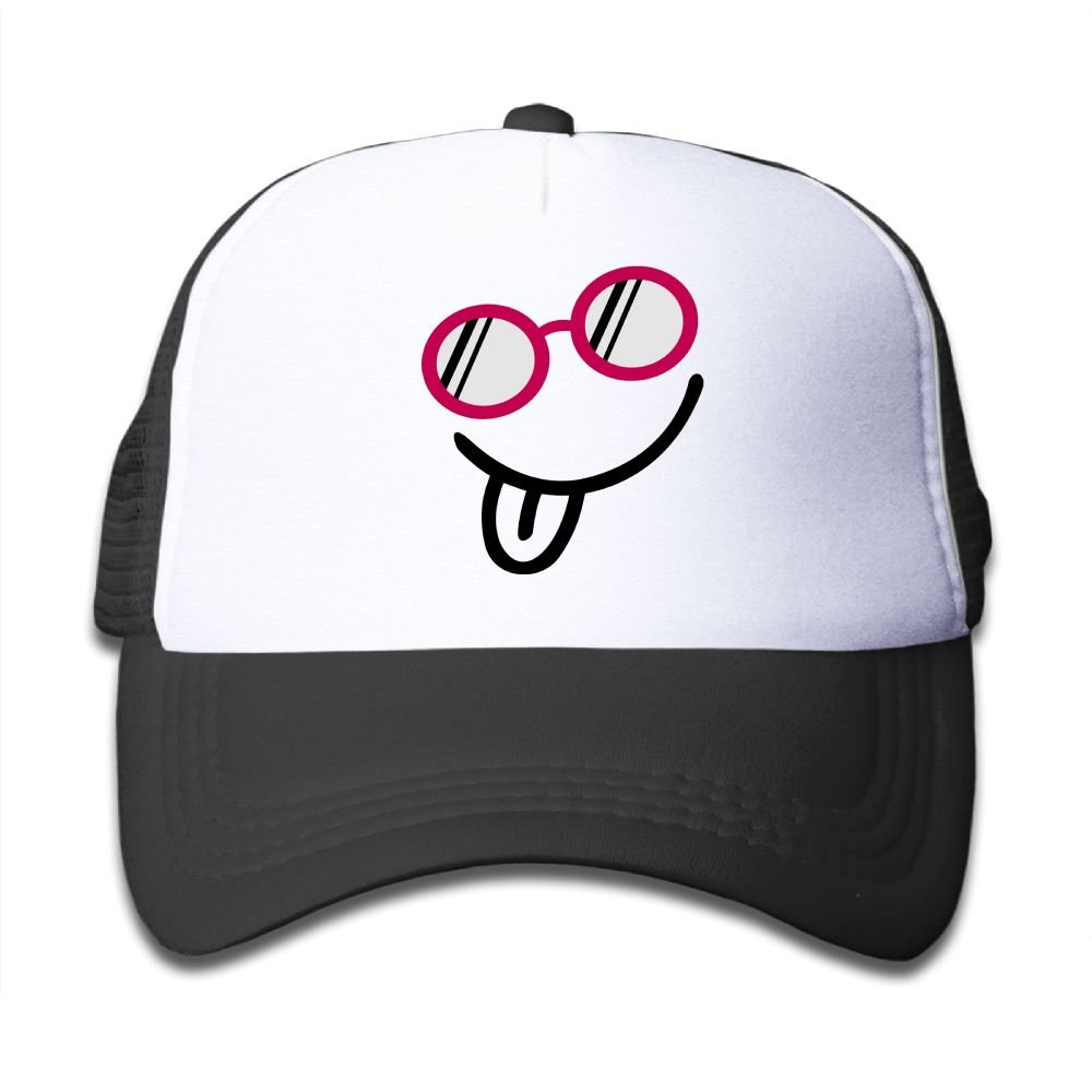 Aiw Wfdnn Mesh Baseball Hat Kids Cool Sunglasses Smile Casual Adjustable by Aiw Wfdnn