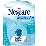 Nexcare Sensitive Skin Tape, 1-inch X 4 Yard Roll (Pack of 6)
