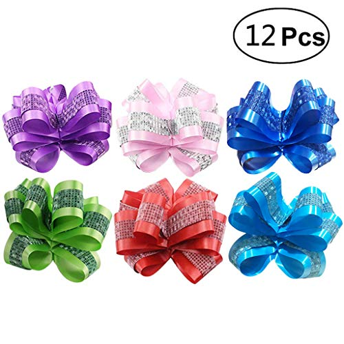 Christmas Gift Ribbon Pull Bows for Holiday Decoration,