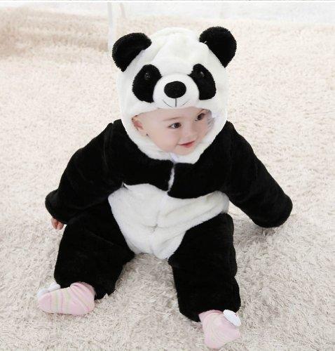 97522453c Meilaier Unisex-baby Winter Flannel Romper Panda Onesie Outfits Suit ...