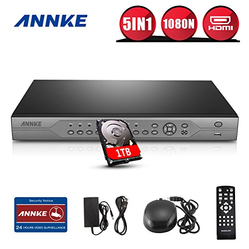 ANNKE AHD-720P/1080N 5 IN 1 32-Channel HD Video Recording Surveillance Standalone DVR Recorder, P2P Technology, QR Code Scan Remote Access, 1TB Hard Drive Included