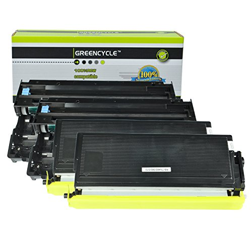 - GREENCYCLE Compatible TN560 Toner Cartridge and DR500 Drum Unit Replacement for Brother DCP-8020 MFC-8420 HL-1650 HL-1850 HL-1870N HL-5040 HL-5050 HL-5070N Series Printers (Black, 2 Toner, 2 Drum)