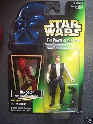 HAN SOLO * WITH HEAVY ASSAULT RIFLE & BLASTER * Star Wars 1997 The Power of t...