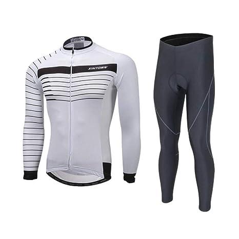 AQWWHY Conjunto de Camisetas de Ciclismo Trajes de Ciclismo ...