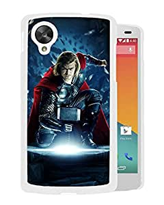 Beautiful Designed Cover Case For Google Nexus 5 With Thor White Phone Case