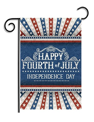 July 4th Independence Day Garden Flag - SimSam (2017 Decorative Patriotic Summer Independence Day Garden Flag Of Double Sided Waterproof Printed Flag 12 X 18 Inch 100% Polyester