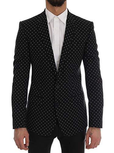 Dolce & Gabbana Black Polka Dot Wool Martini -