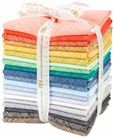 Architextures Crosshatch 20 Fat Quarter Bundle Robert Kaufman Fabrics FQ-1136-20 by Robert Kaufman Fabrics