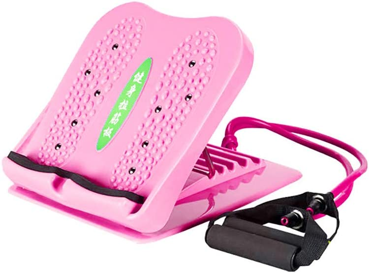 Factorys Carpeta de Placa de Costillas Tendón Health & Fitness Mini Stepper, Tabla para Estirar Las piernas con Bandas de Resistencia