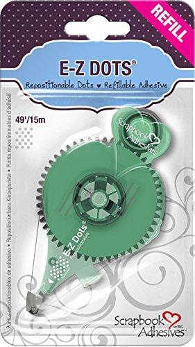 3l-scrapbook-adhesives-e-z-dots-repositionable-refillable-runner-refill-cartridge-49-feet