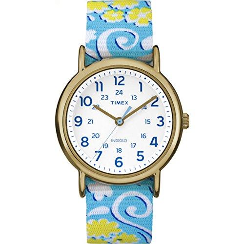 - Timex Women's Weekender Reversible Floral |Blue| Casual Watch TW2P90100