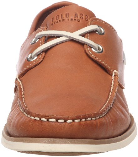 U.S.POLO ASSN. Bert Leather, Men's rounded tips Cognac (Brw)