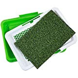 OxGord Dog Training Indoor Potty Trainer (Includes 2) Synthetic Grass Pee Pads for Pet Cat Puppy Outdoor Restroom Patch