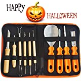 Gven Pumpkin Carving Kit- Pumpkin Carving Tools Jack-O-Lanterns Sculpting Set- 14 Cuts, Scoops, Scrapers, Saws, Loops- Halloween Tools
