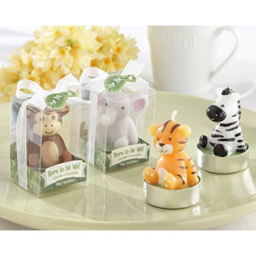 Born To Be Wild Animal Tealight Candles (Set of 8 - 2 of each style)