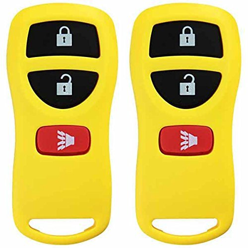 2 KeylessOption Yellow Replacement 3 Button Keyless Entry Remote Control Key Fob Compatible with KBRASTU15