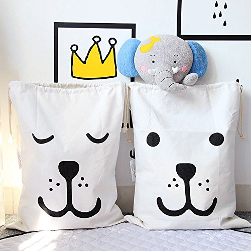 Beer Baby Blanket - 2 Pack Canvas Laundry Bags for Storage, 2 Carton Beer Design Cotton Laundry, Locking Drawstring Closure Easy Carrying, Baby Kid Clothing Toy Organization Backpack, Shopping Outdoor Store Bags 26x19