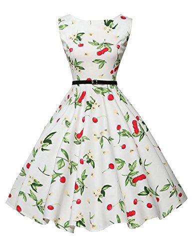 - GRACE KARIN Women's Vintage Dress Floral Print A-line Size L F-4