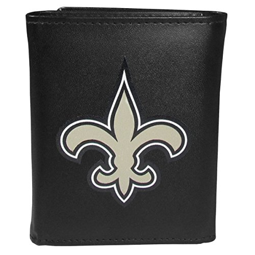 - Siskiyou Sports NFL New Orleans Saints Tri-fold Wallet Large Logo, Black