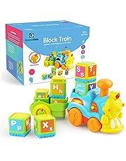 GizmoVine Juguetes Bebes Juguete De Construcción del Tren del Alfabeto Juguetes Educativos Temprano Niños y Niñas 1,2, 3 Años