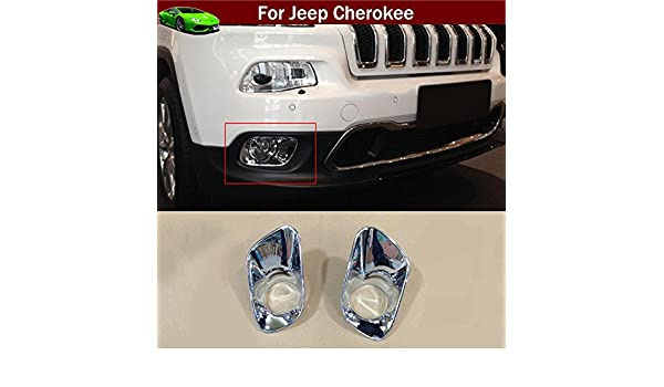 Chrome Front Bumper Fog Lamp Grille Cover For Jeep Compass 2015-2016 2PCS ABS