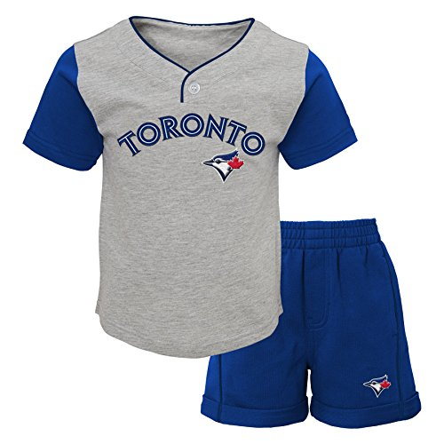 (MLB Toronto Blue Jays Boys 4-7 Batting Practice Short Set-M (5-6), Heather Grey)
