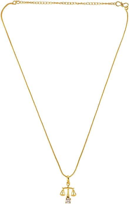 Efulgenz Silver Plated Cubic Zirconia Zodiac Leo Sign Pendant Chain Constellation Necklace Jewelry Birthday Gift