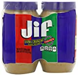 Jif Extra Crunchy Peanut Butter, 48 Oz Twin Pack. 96 Ounce Total from K2 Valley Inc
