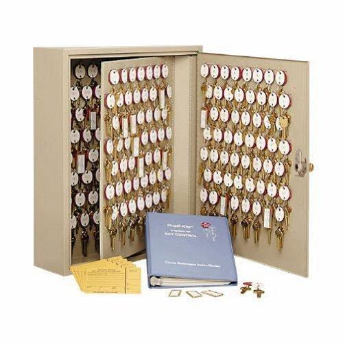 STEELMASTER Dupli-Key Two-Tag Cabinet for 390 Keys, 16.5 x 31.13 x 5 Inches, Sand (201839003)
