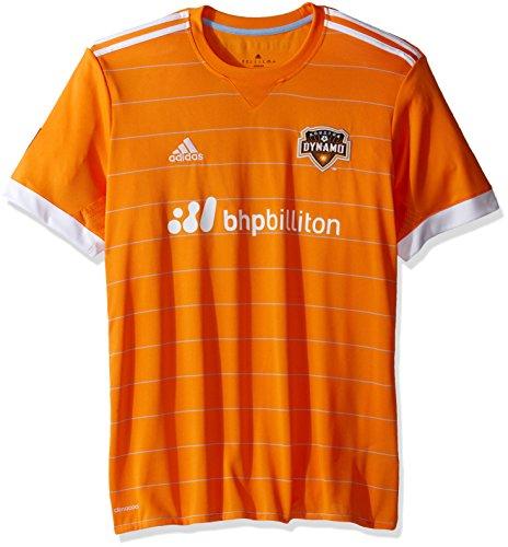 more photos 1be7f 1570a MLS Houston Dynamo Adult Men Replica Wordmark s jersey,Large,Orange