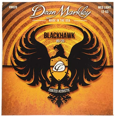 Dean Markley Blackhawk Coated 80/20 Acoustic Guitar Strings 12-53