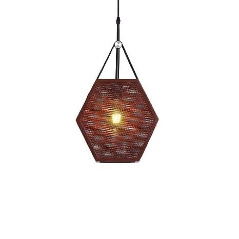 NUYAN chandelierLámpara de Malla de Jaula Industrial, lámpara ...