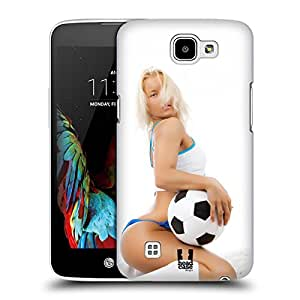 Head Case Designs Cute Blonde Player With Ball Football Babes Hard Back Case for LG K4