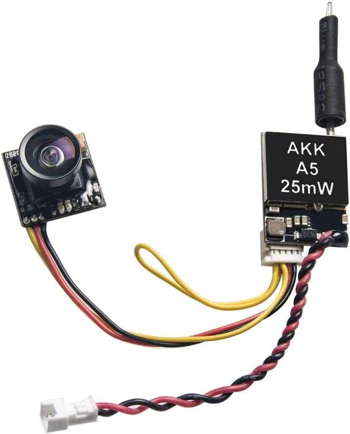 Amazon.com: AKK A5 5.8Ghz 25mW FPV Transmitter 600TVL CMOS Micro Camera  Support OSD Switchable Raceband for Quadcopter Drone Like Tiny Whoop Blade  Inductrix: Toys & GamesAmazon.com