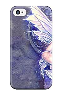 AnnaSanders Scratch-free Phone Case For Iphone 4/4s- Retail Packaging - Fairy On A Throne Fantasy Abstract Fantasy