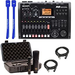 Zoom R8 w/ MXL 440/441 Mics, XLRs & Cable Ties