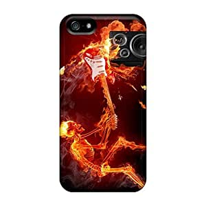 Best Hard Phone Covers For Iphone 5/5s (HLJ17318GBFL) Unique Design Fashion Finntroll Band Pattern